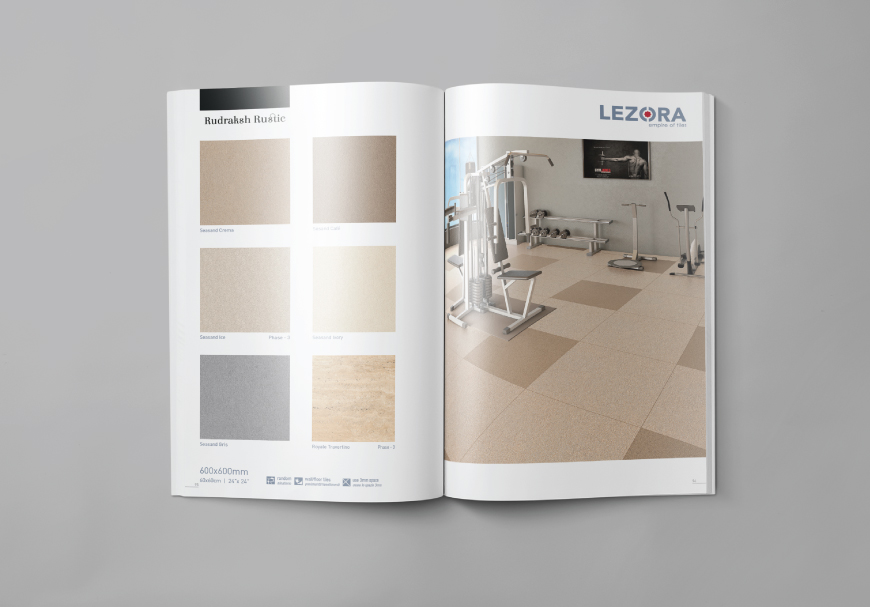 Brochure and Paper Bag, Lezora Vitrified Morbi, Gujarat